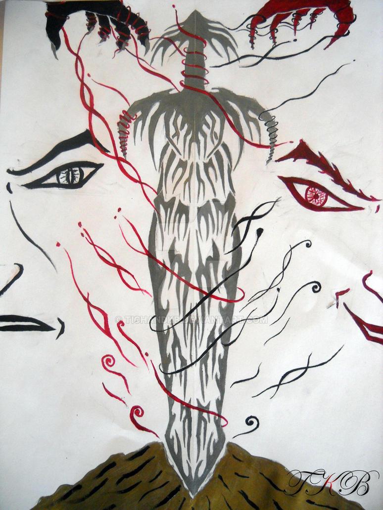 Tribal art - Good Vs Bad by TichandKB