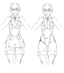 Makoto Nanaya Redesign Concept - LineArt by ColorCodedShadow