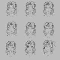 Alisa Moonlight Expression Sketches by ColorCodedShadow