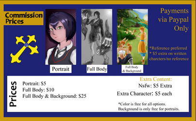 2019 Commission Sheet (No Longer Valid Prices)