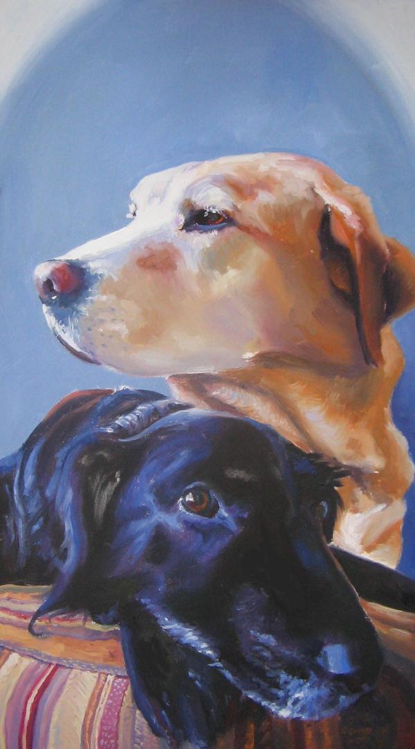 Pet Portrait- Dexter and DeeDe