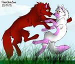 SpeedPaint 1|LOVE Mangle and Foxy 3