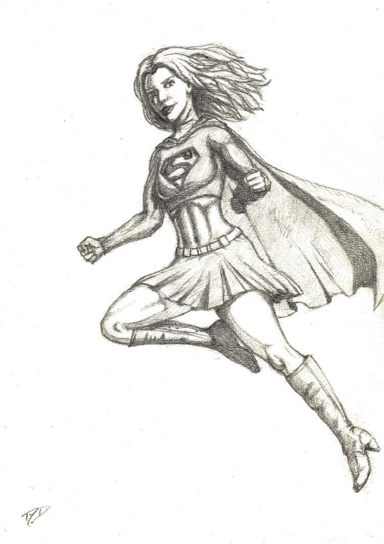 Supergirl Sketch by BigAlien