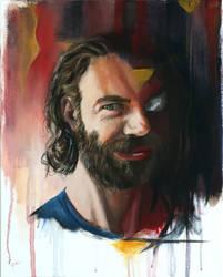 Sides of Me - Acrylic Portrait by BigAlien