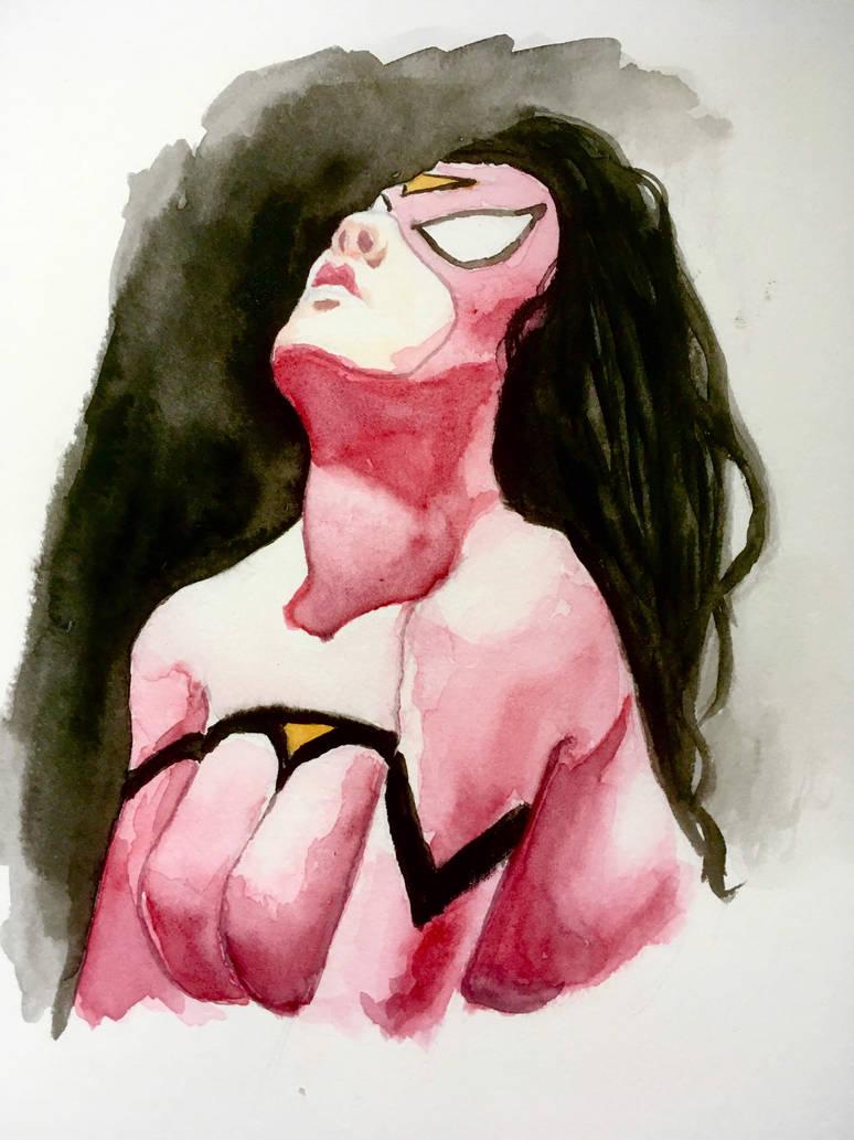 Spider-Woman portrait - copy of Jeff Dekal's work by BigAlien