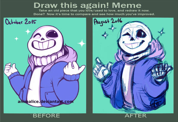Draw this again meme.. by Animalice