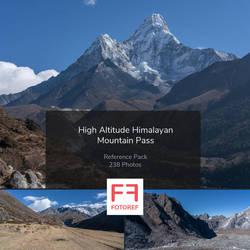 High Altitude Himalayan Mountain Pass