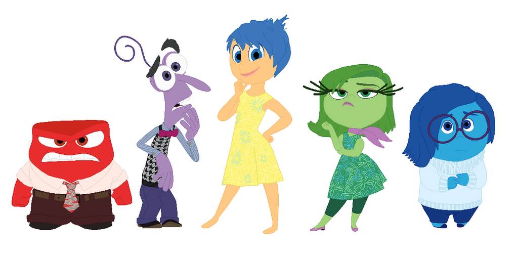 Inside Out Emotions Together by KatieGirlsForever