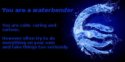 I'm a Waterbender by KatieGirlsForever