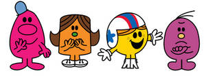 Mr. Men Show Characters In The Book Series Style