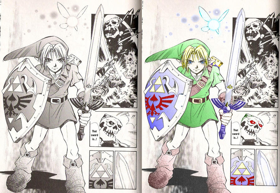 The Legend Of Zelda Ocarina Of Time Manga By Shadw