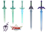 Skyward Sword - All Sword Forms Render