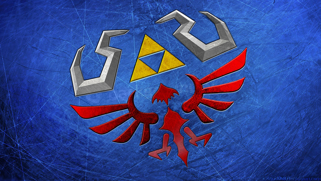 Hylian Shield Wallpaper by shad0w8