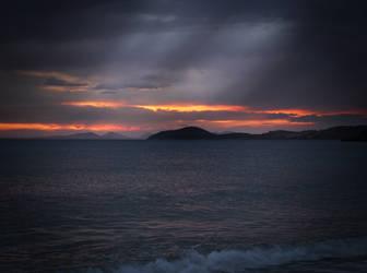 Rainy Sunset by dude2k
