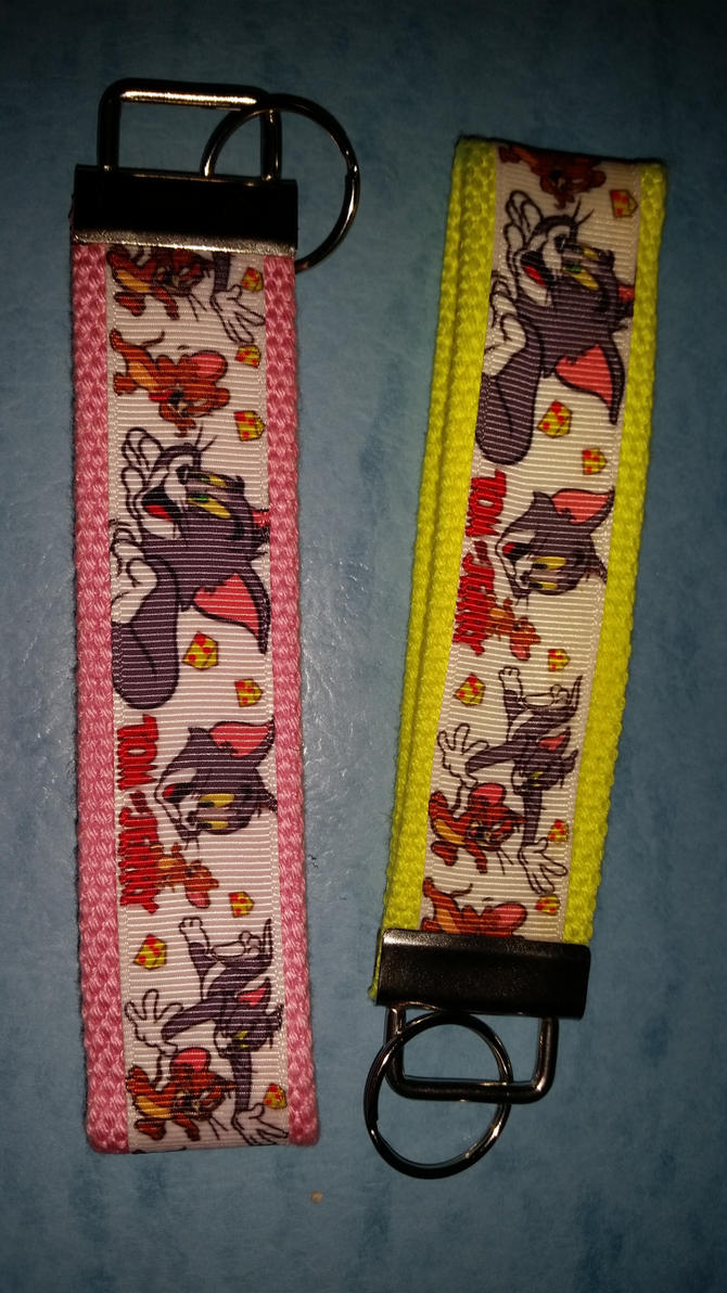 Tom and Jerry Key Fobs by cha0tyk-harm0nye