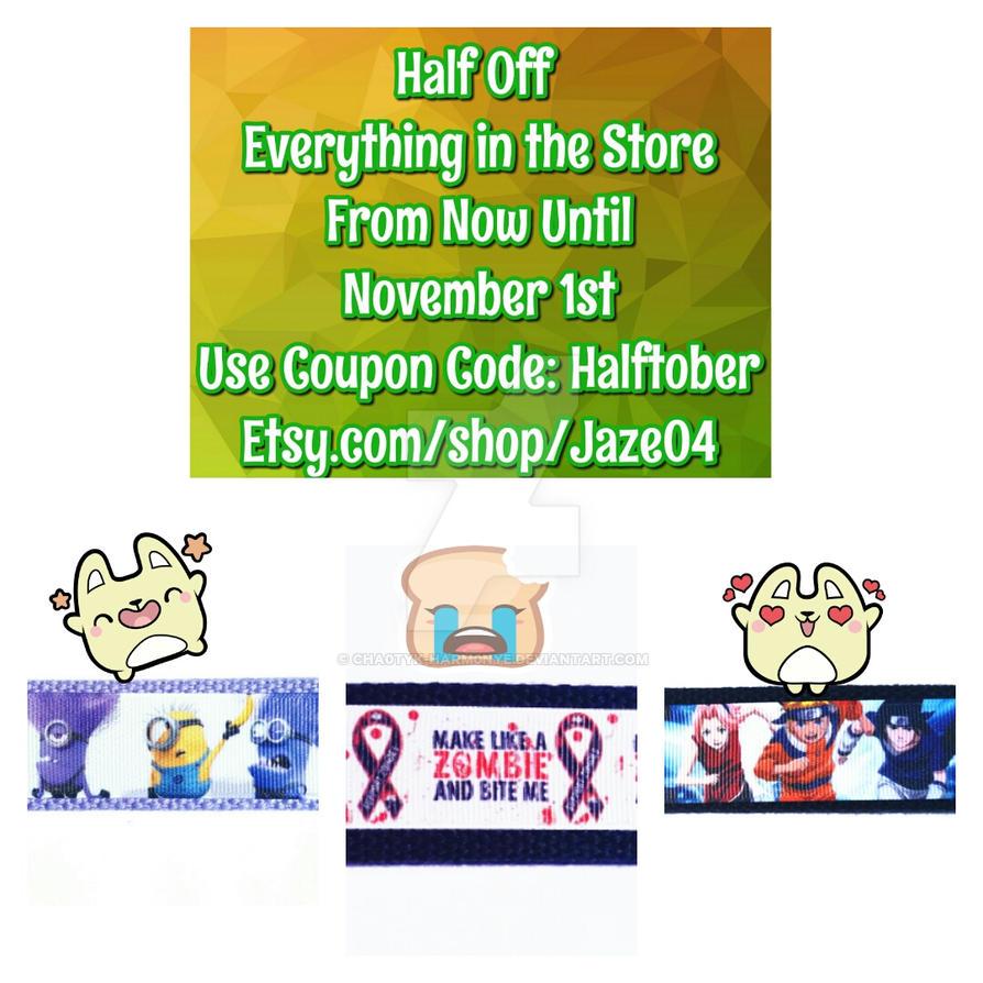 Halftober Coupon Code! by cha0tyk-harm0nye