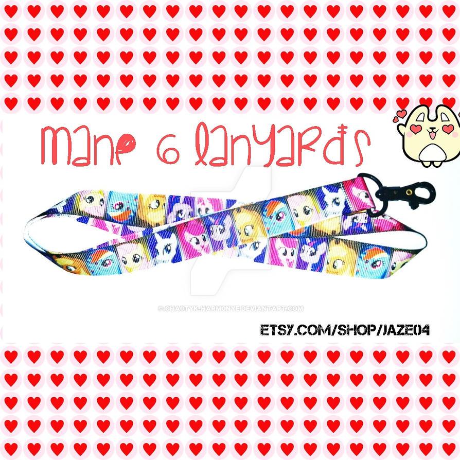 Mane 6 Lanyards by cha0tyk-harm0nye