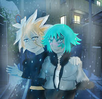 Silro and Emerald Lee  by legendarysilrox101
