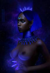 Blue Moon by ImaginaryRosseArt