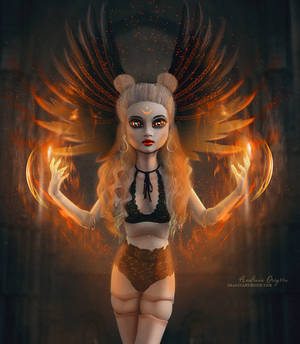 The Burning Soul by ImaginaryRosseArt