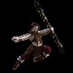 Spear Fighter Stock