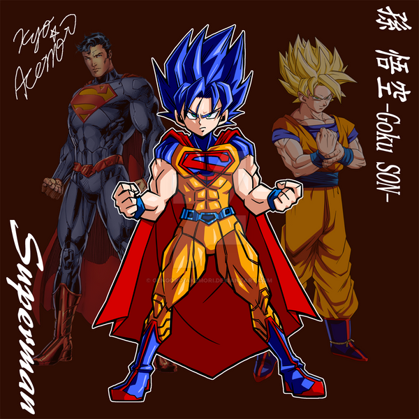 [fusion] Superman+Goku-SON by Gengoro-Akemori on DeviantArt