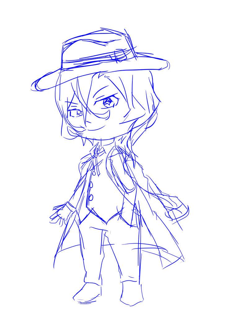 sketch Chuuya by RidhMarch
