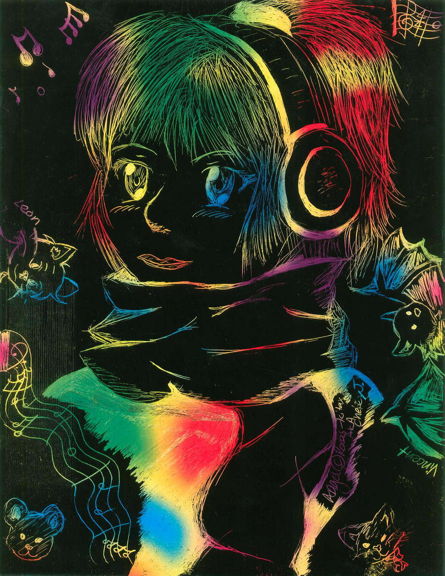 art i  color scratch board by roxas kitax Hot Milda chats online naked in front of her webcam to find generous ...