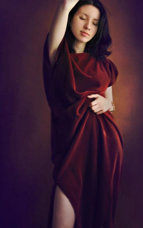 red dress by ka-sau