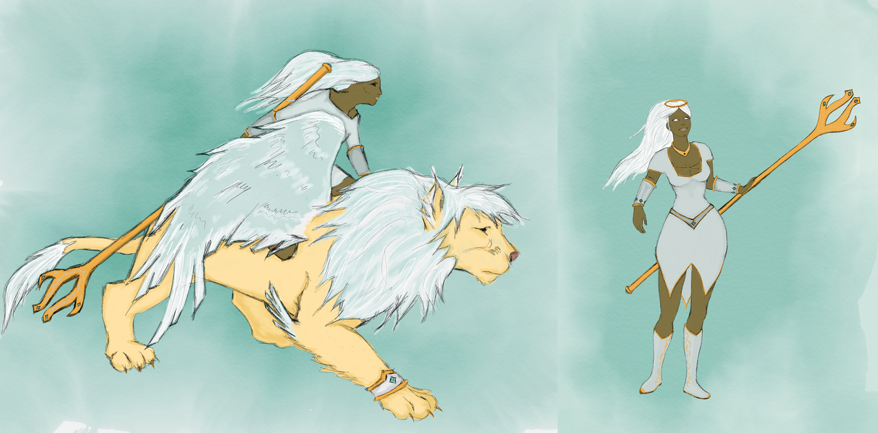Angelic Awilix and Suku Skin Concept by GloomWriter