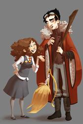 Hermy and Viktor by Leamlu