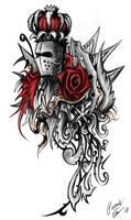 Rose knight  ornament tattoo