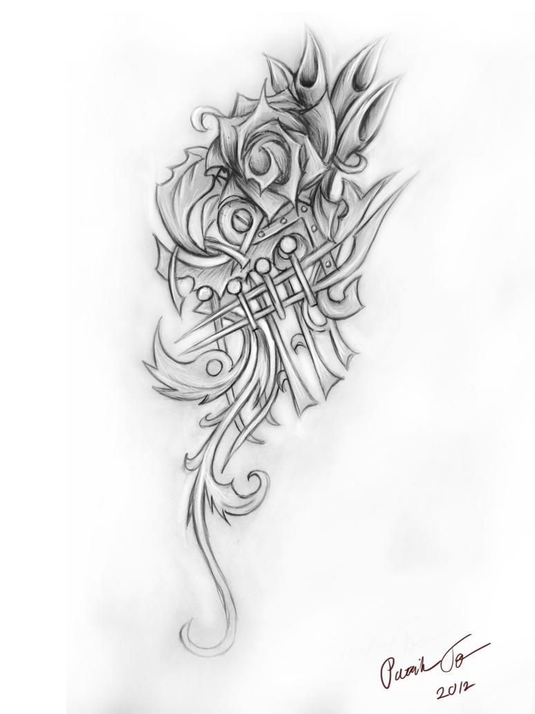 rose ornament tattoo by patrike on deviantart. Black Bedroom Furniture Sets. Home Design Ideas