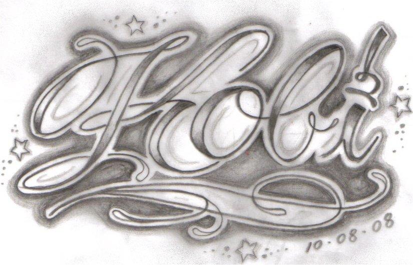 Fancy script tattoo design by tattooed honey on deviantart for Fancy name tattoos
