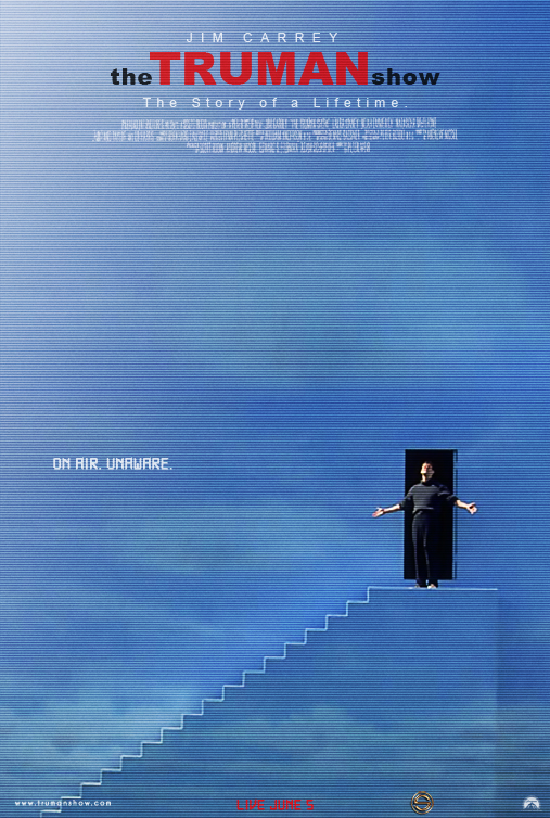 the truman show poster by sahinduezguen on deviantart