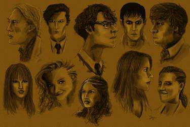 Famous Faces Doodles by sahinduezguen