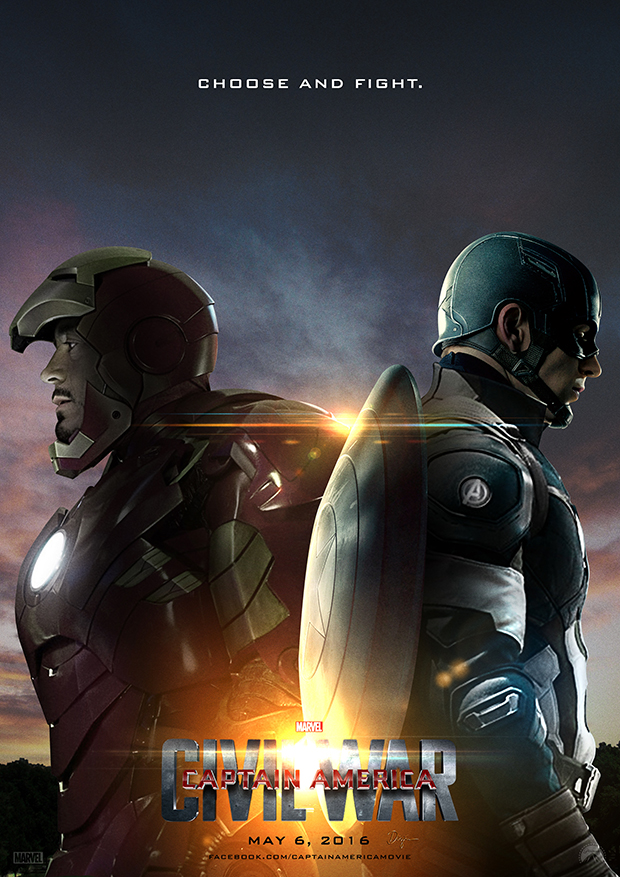 Captain America Civil War Poster A By Sahinduezguen