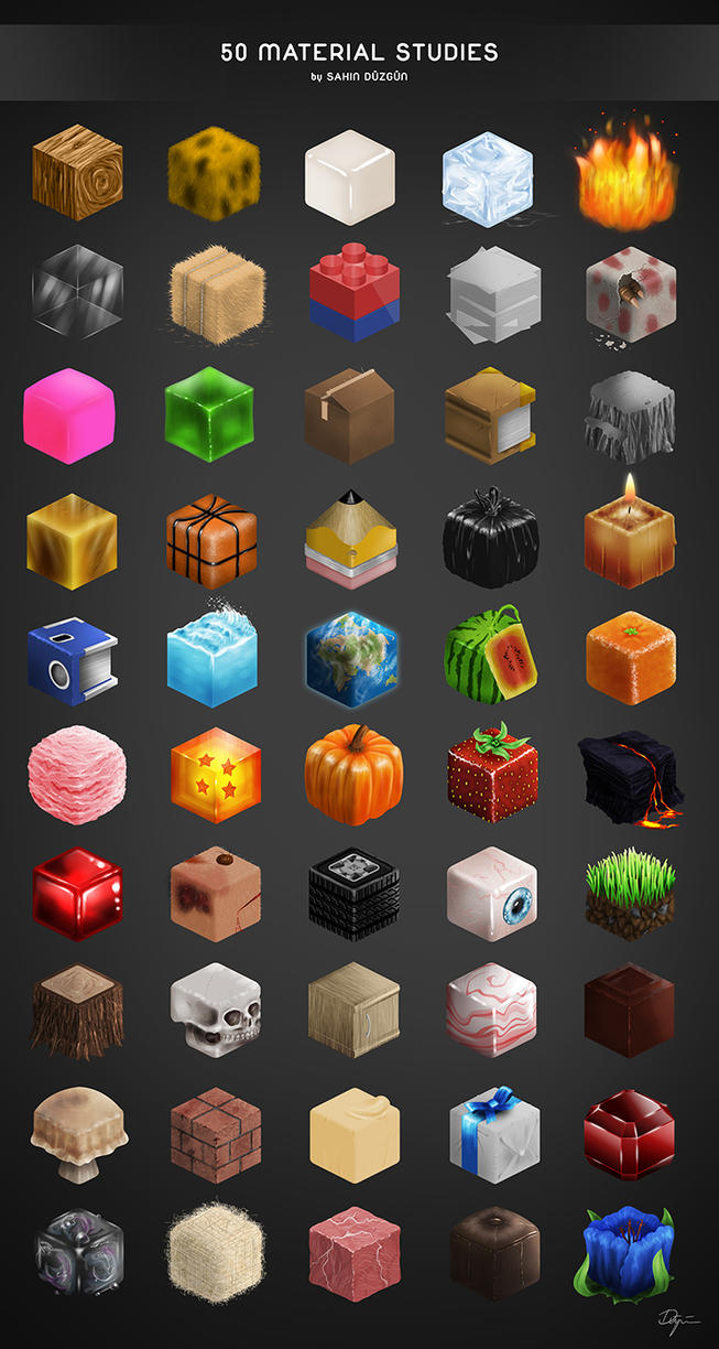 50 Material Studies by sahinduezguen