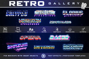 Retro Sci-Fi| Text-Effects | TemplatePackage
