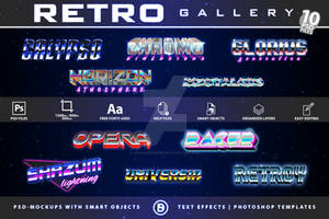 Retro Sci-Fi  Text-Effects   TemplatePackage