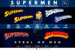 Supermen   Text-Effects   Template Package v2