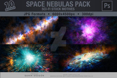 SPACE NEBULAS PACK | Sci-Fi Stock Motives