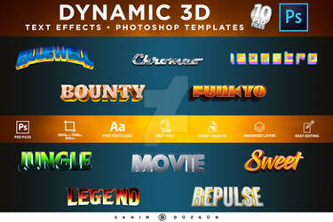 Dynamic3d | TextEffectsTemplate | Photoshop