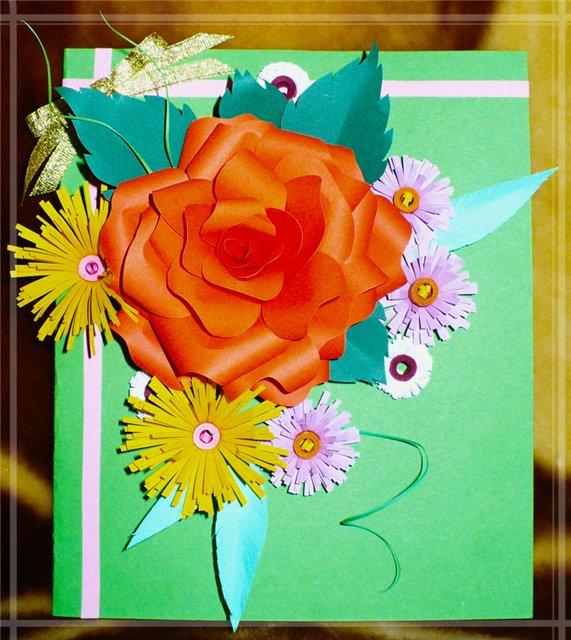 Открытка бабушке на день рождения своими руками открытка