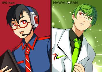 Ipo-kun and Nawala-san by Rouzille