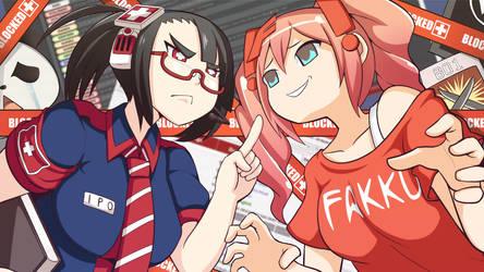 Ipo-chan vs fakku by Rouzille