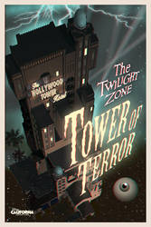 Twilight Zone Tower of Terror Anaglyphic 3D Poster