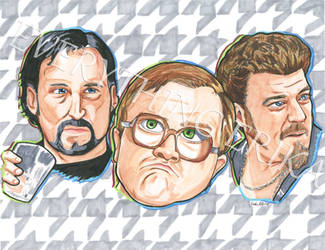 Trailer Park Boys on Houndstooth Background by everythingerika