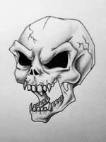 Skull Tattoo by PsychicPsycho