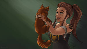 Brigitte and Whiskers by PsychicPsycho